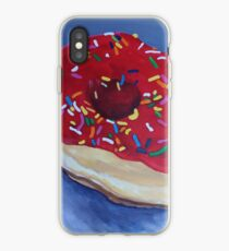 "(132) ""Red Donut.""  Acrylic on Canvas. 26"" * 28.5"". 7/2017. iPhone Case"