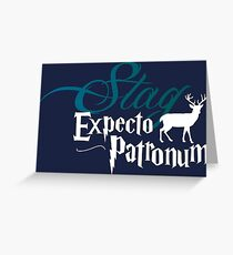 Expecto Patronum Stag Greeting Card