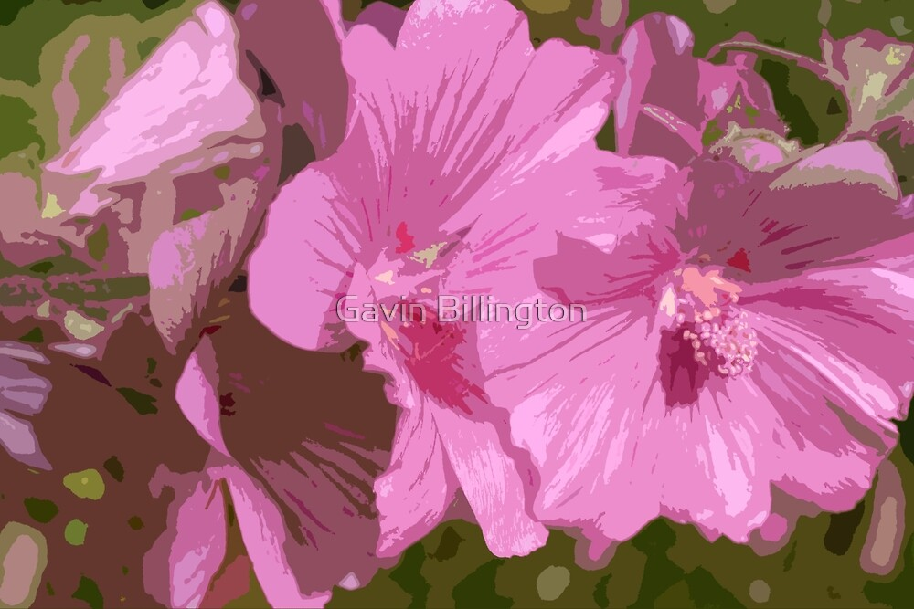 Purple Headed flower in summer by Gavin Billington