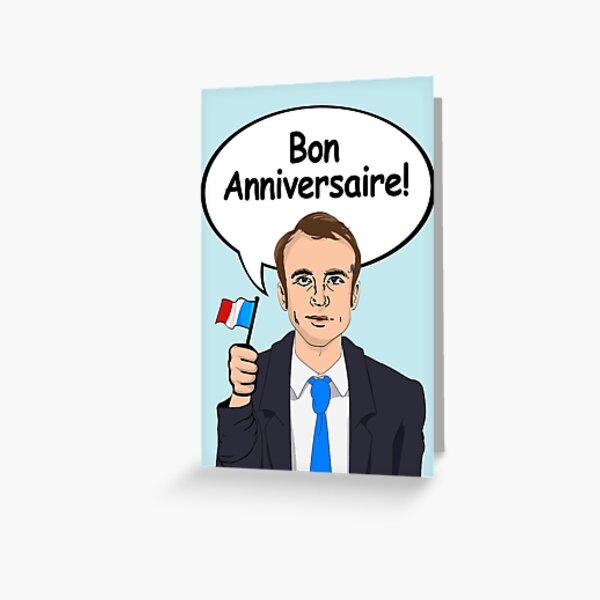 Bon Anniversaire d'Emmanuel Macron Carte de vœux