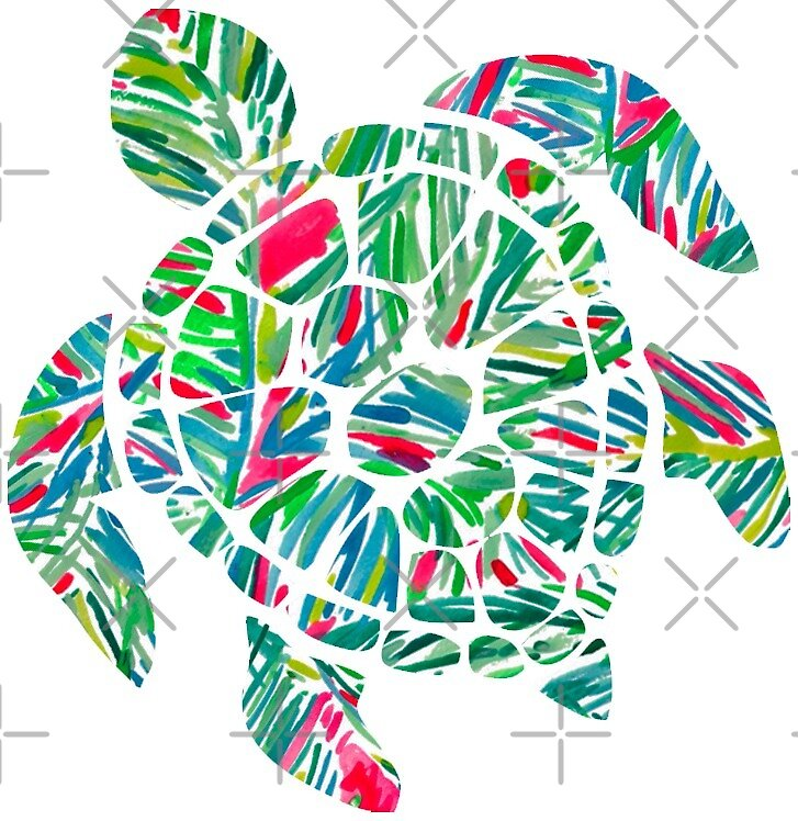 Lilly Pulitzer Turtle by mynameisliana