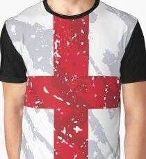 England Grunge Vintage Flag Graphic T-Shirt