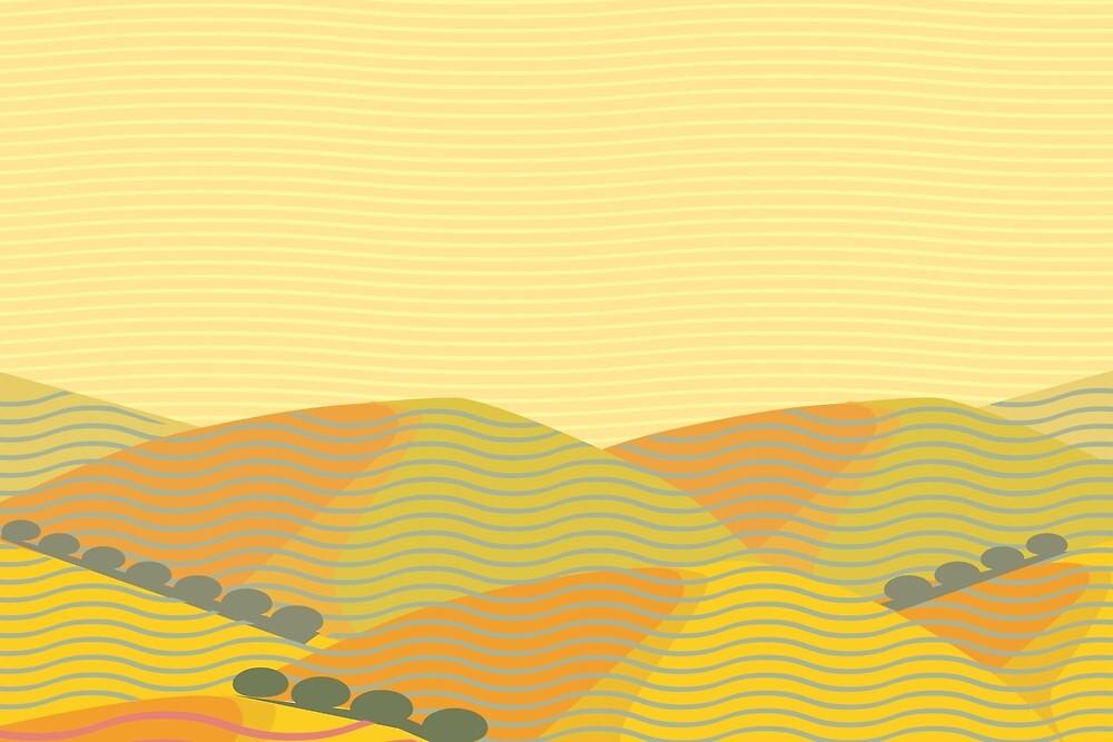 California Hills (Horizontal) by Charles Harker
