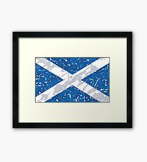 Scotland Grunge Vintage Flag Framed Print