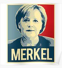 MERKEL PROPAGANDA POSTER Poster