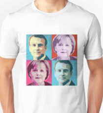 Macron Merkel Pop Art T-Shirt