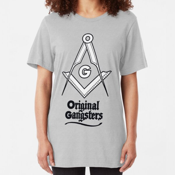 OG - Original Gangsters - Masonic Square & Compass Slim Fit T-Shirt