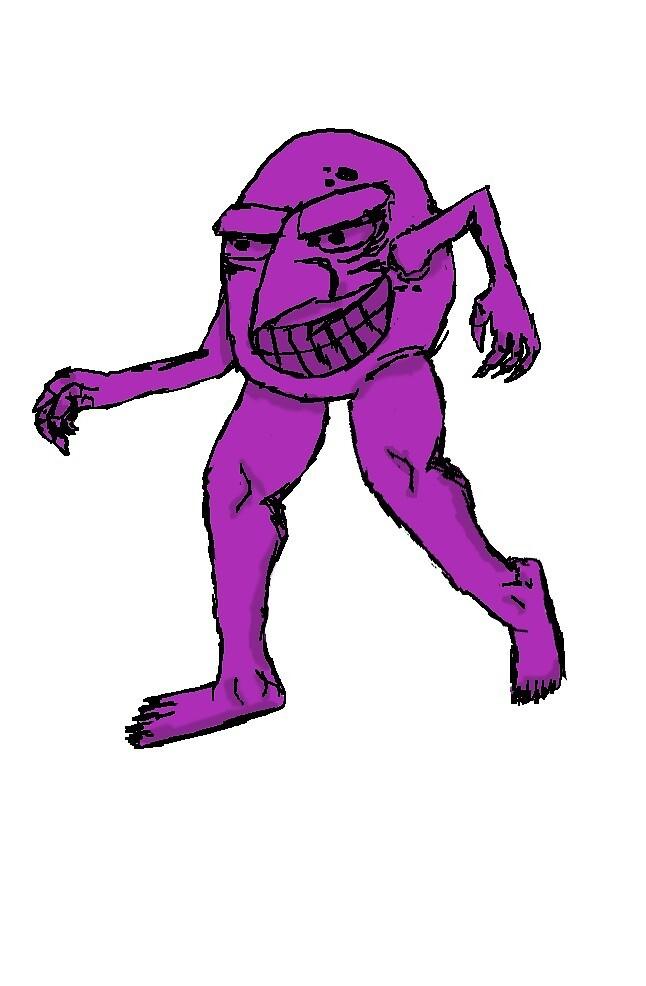 The Feet Muncher - Purple by samtheart-man