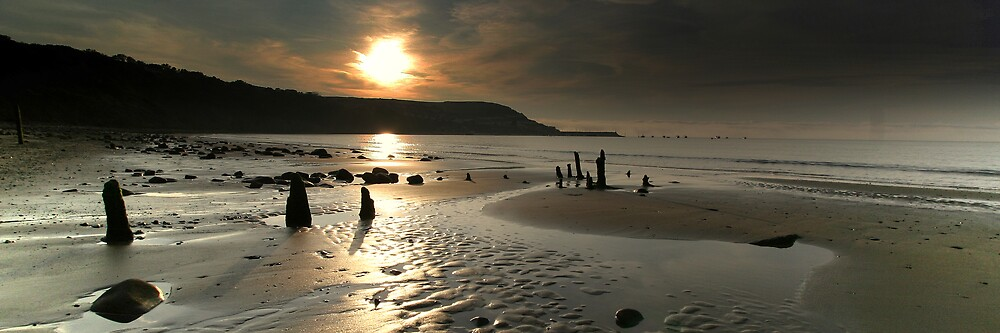 Panoramic New Quay Sunset by Philip Young
