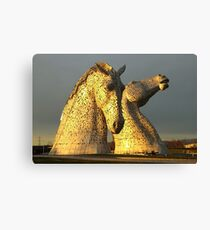 The Kelpies in Scotland Canvas Print