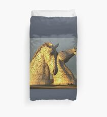 The Kelpies in Scotland Duvet Cover