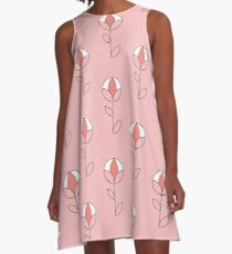Graphic Spherical Flower in Pink A-Line Dress