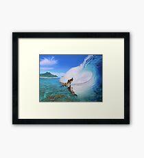 Surfing Dan Framed Print