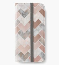 Rose Gold Marble Geometric iPhone Wallet/Case/Skin