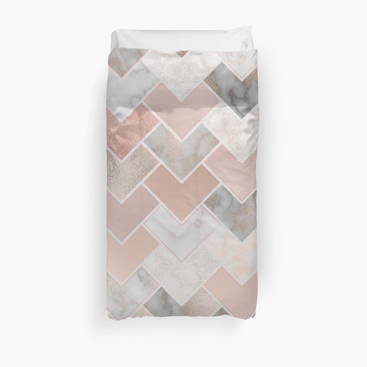 «Rose Gold Marble Geometric» de lisaguen