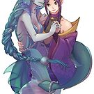 Mermaid and Unicorn by OctGhost
