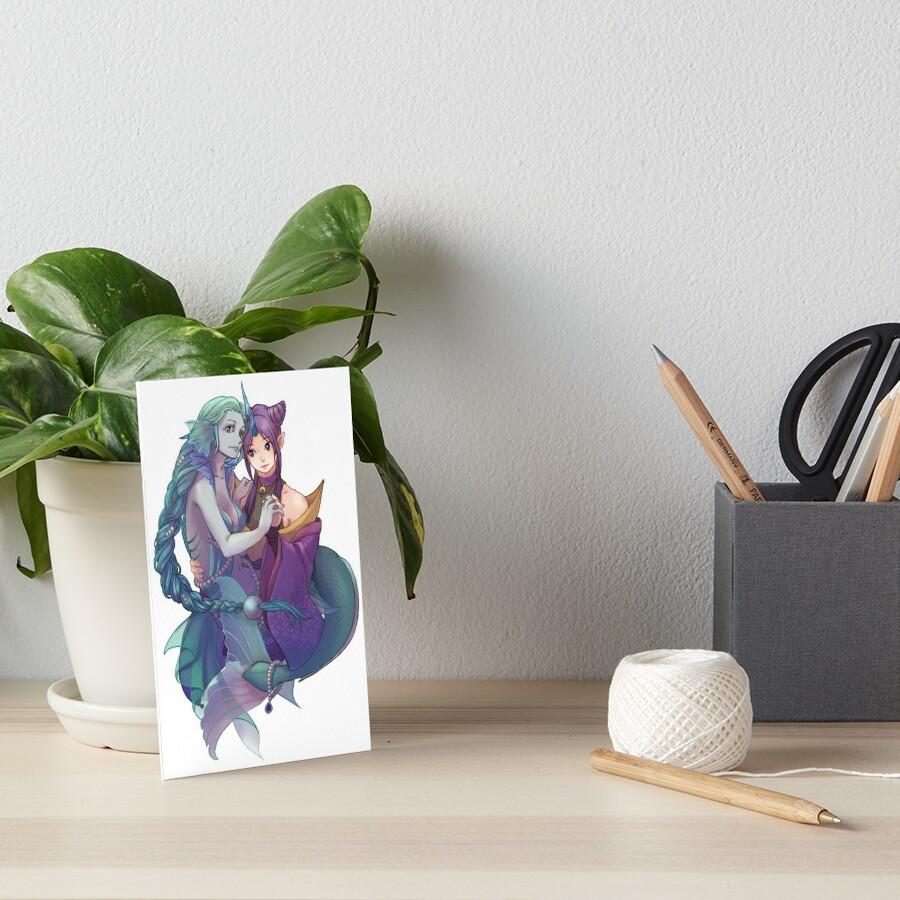 Mermaid and Unicorn Art Board Print