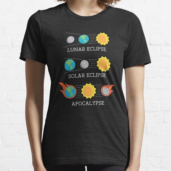 Solar Eclipse Lunar Eclipse Apocalypse Funny Joke Camiseta esencial
