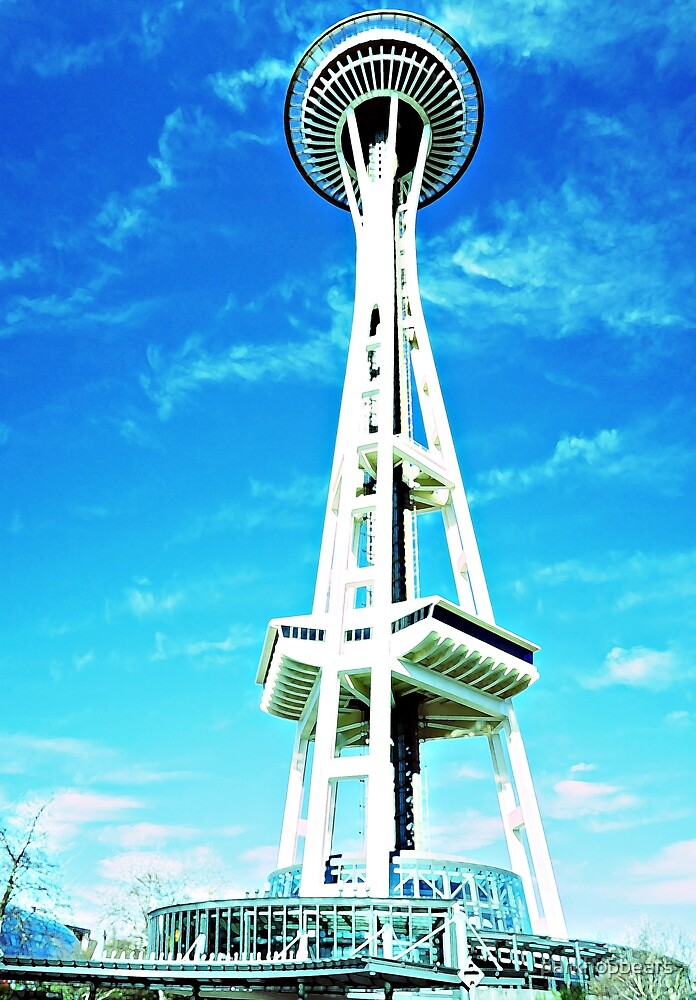 Space-needle Seattle by parkhopbears