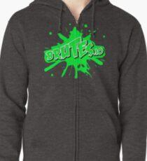 Brutes.io (Logo Green) Zipped Hoodie