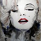 Blue Beads - Marilyn by Trish Loader