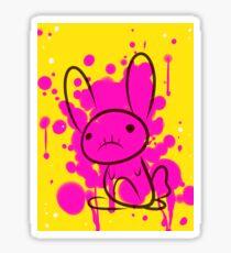 bunny splatter Sticker