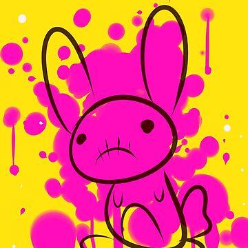 bunny splatter by odzi