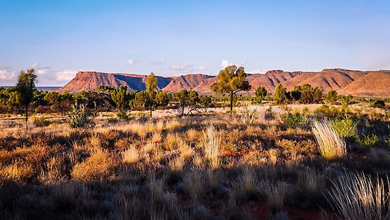 Sun Setting over Kings Canyon - Northern Territory, Australia by Lexa Harpell