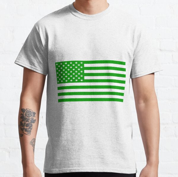 Hemp Flag with Hemp stars Classic T-Shirt