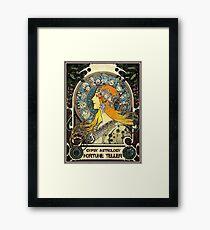 Lámina enmarcada ASTROLOGÍA GYPSY; Vintage Fortune Teller Print