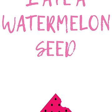 I Ate A Watermelon Seed Maternity Tshirt Pink Pregnancy CUTE by MommiesByDesign