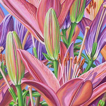Field Of Lilies by janegirardot