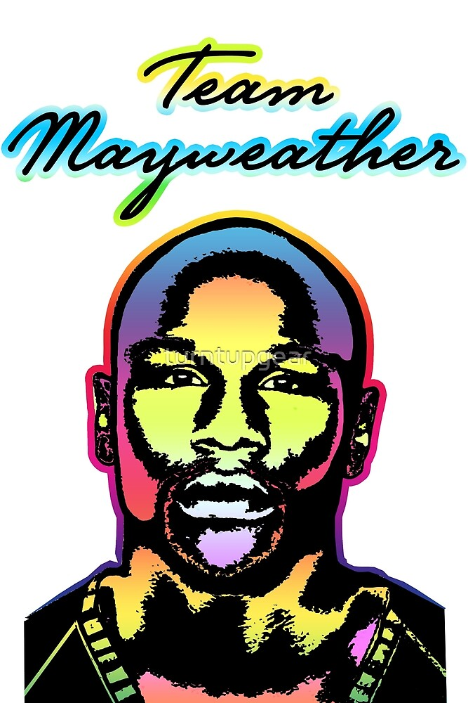 Team Mayweather Electric Color Portrait by turntupgear