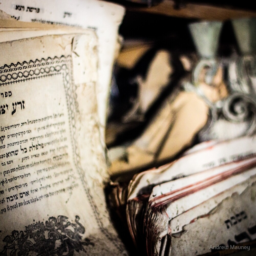 Old Torahs and holy documents by Andrew Mauney