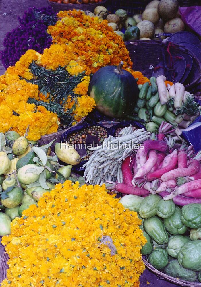 Nepali market produce by Hannah Nicholas