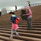 On the Steps by Elizabeth Duncan