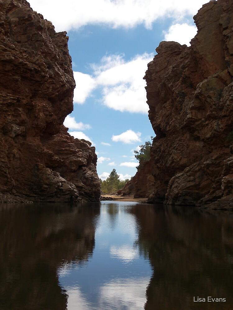 Ellery Creek Big Hole,  Northern Territory. by Lisa Evans