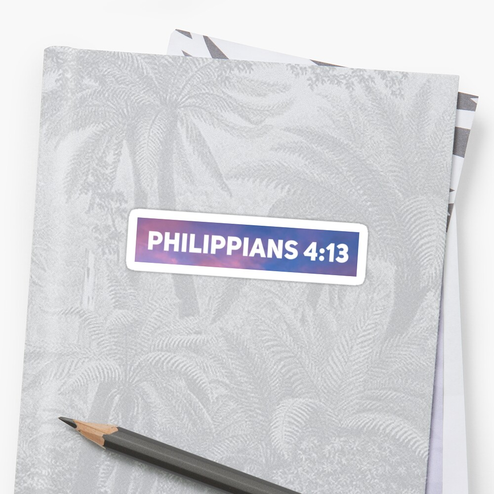 Philippians 4:13 by clairestickers