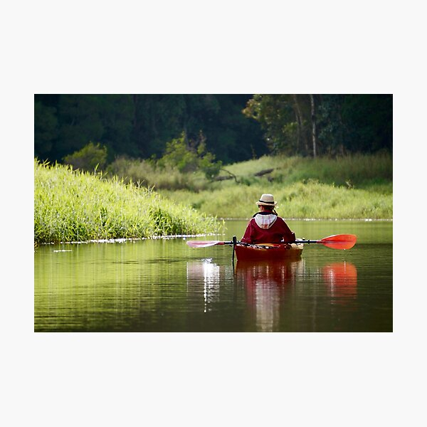 Kayaking on Still Waters Photographic Print