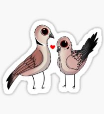 Mourning and Ringneck Dove Sticker