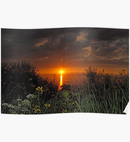 Cowbar sunset Poster