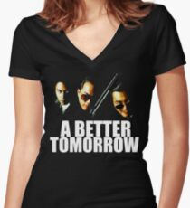 A Better Tomorrow  Women's Fitted V-Neck T-Shirt