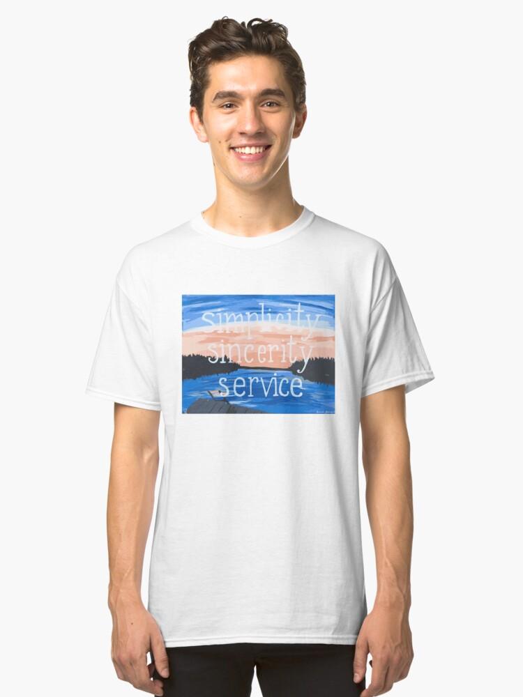 Pocono: Simplicity Sincerity Service Classic T-Shirt Front
