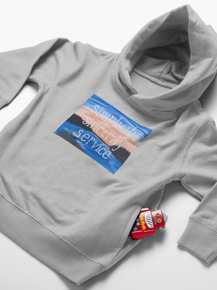 Alternate view of Pocono: Simplicity Sincerity Service Toddler Pullover Hoodie