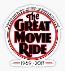 The Great Movie Ride 1989-2017 Sticker