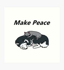 Funny T-shirtLet's Make Peace Art Print