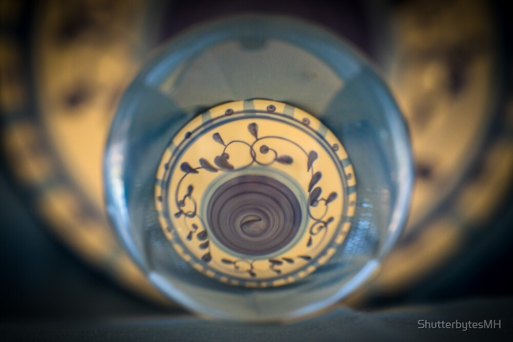 Concentric Electric Blue Circles by ShutterbytesMH