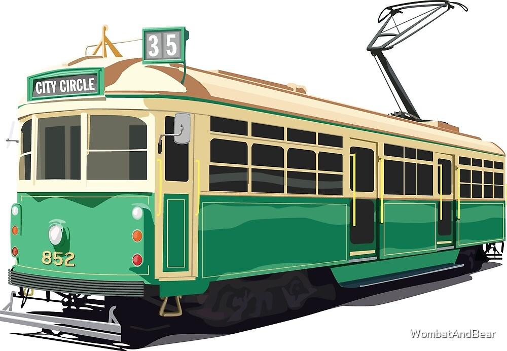 Melbourne Tram by WombatAndBear