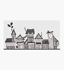 cute haunted town Photographic Print