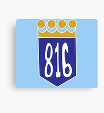816 Area Code Kansas City Royals Canvas Print